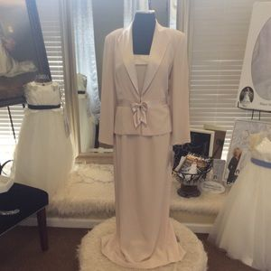 Champagne Dress with jacket